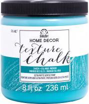 FolkArt Texture Chalk Finish Paint, 8 oz, Island Indigo
