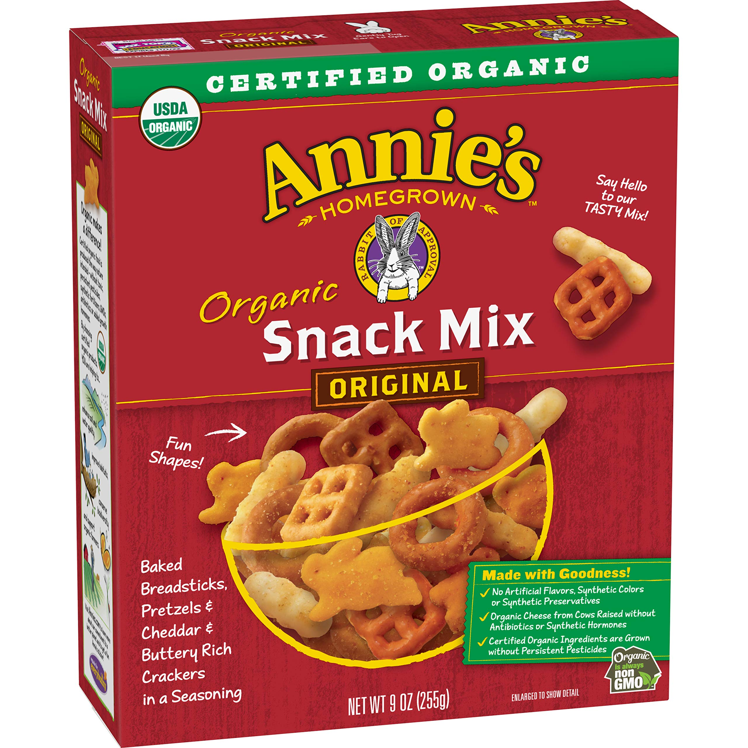 Annie's Homegrown Organic Snack Mix, Bunnies, 9-Ounce Boxes (Pack of 12)