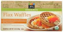 365 Everyday Value, Organic Flax Waffles, 6 ct, (Frozen)