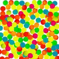 Totem World 144 Glow in The Dark Bouncy Balls - 25mm Neon Bounce Balls - Bulk Pack for Kids Birthday Party Favor Supplies, Easter Eggs, Stocking Stuffer