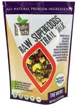 Raw Superfoods Trail Mix - The Works (Goji Berries, Golden Berries, Mulberries, Raisins, Brazil Nuts, Cashews, Walnuts, Pumpkin and Sunflower Seeds)