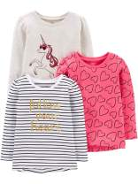 Simple Joys by Carter's Toddler Girls' 3-Pack Graphic Long-Sleeve Tees