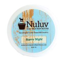 Nuluv Goat Milk Body Butter, Made in USA - Supports Healthy Skin (Starry Night)