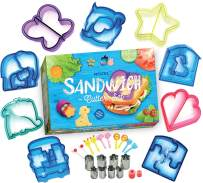 Nozel - Sandwich Cutters for Kids - Set of 29 Bento Box Accessories - 8 BONUS Crust and Cookie Stamps for Fruit & Vegetables - Made of Stainless Steel - Perfect for Toddlers & Picky Eaters!