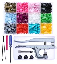 KAM Snaps Starter Fasteners Kit -360pcs Snap Size 20 + Pliers for Crafts Clothing