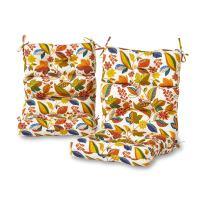 Greendale Home Fashions AZ6809S2-ESPRIT Foliage Outdoor High Back Chair Cushion (Set of 2)