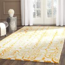 Safavieh Dip Dye Collection DDY711C Handmade Moroccan Geometric Watercolor Ivory and Gold Wool Area Rug (8' x 10')