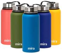 MIRA 32 Oz Stainless Steel Vacuum Insulated Wide Mouth Water Bottle - Thermos Keeps Cold for 24 hours, Hot for 12 hours - Double Wall Hydro Travel Flask - Hawaiian Blue