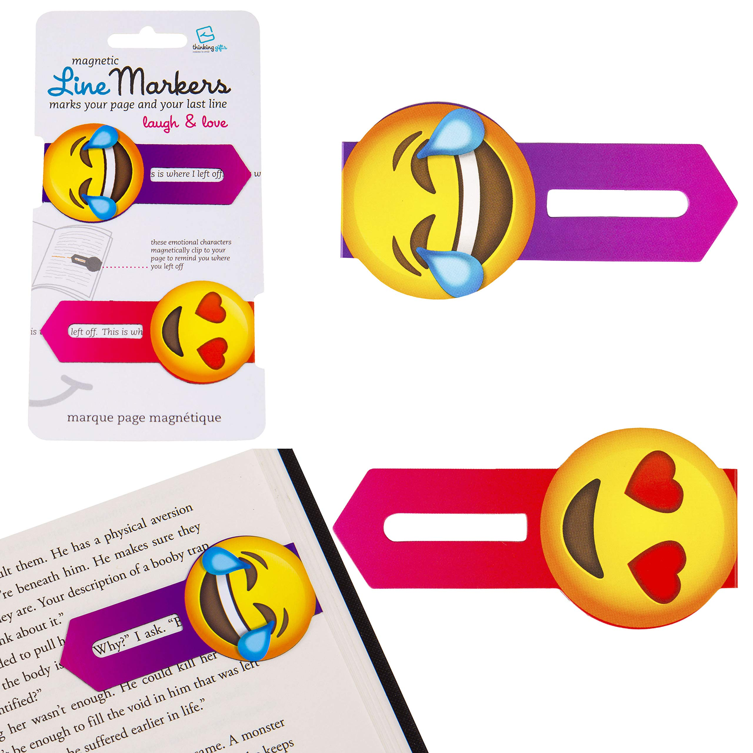 Line Markers Novelty Fun Magnetic Bookmark Page Holder Book Lover Reading Gift – Love and Laugh