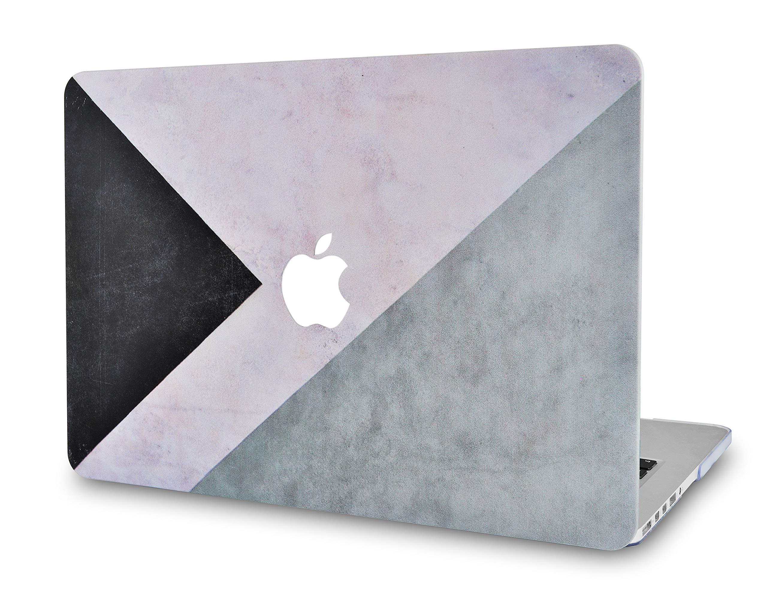 "LuvCaseLaptopCaseforOld MacBook Pro 13"" Retina Display (2015/2014/2013/2012 Release) A1502/A1425RubberizedPlasticHardShellCover (Black White Grey)"