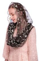 Pamor Chapel Veils Mantilla Infinity Veil Latin Mass Little Flower Soft Embroidered Lace Head Covering Scarf