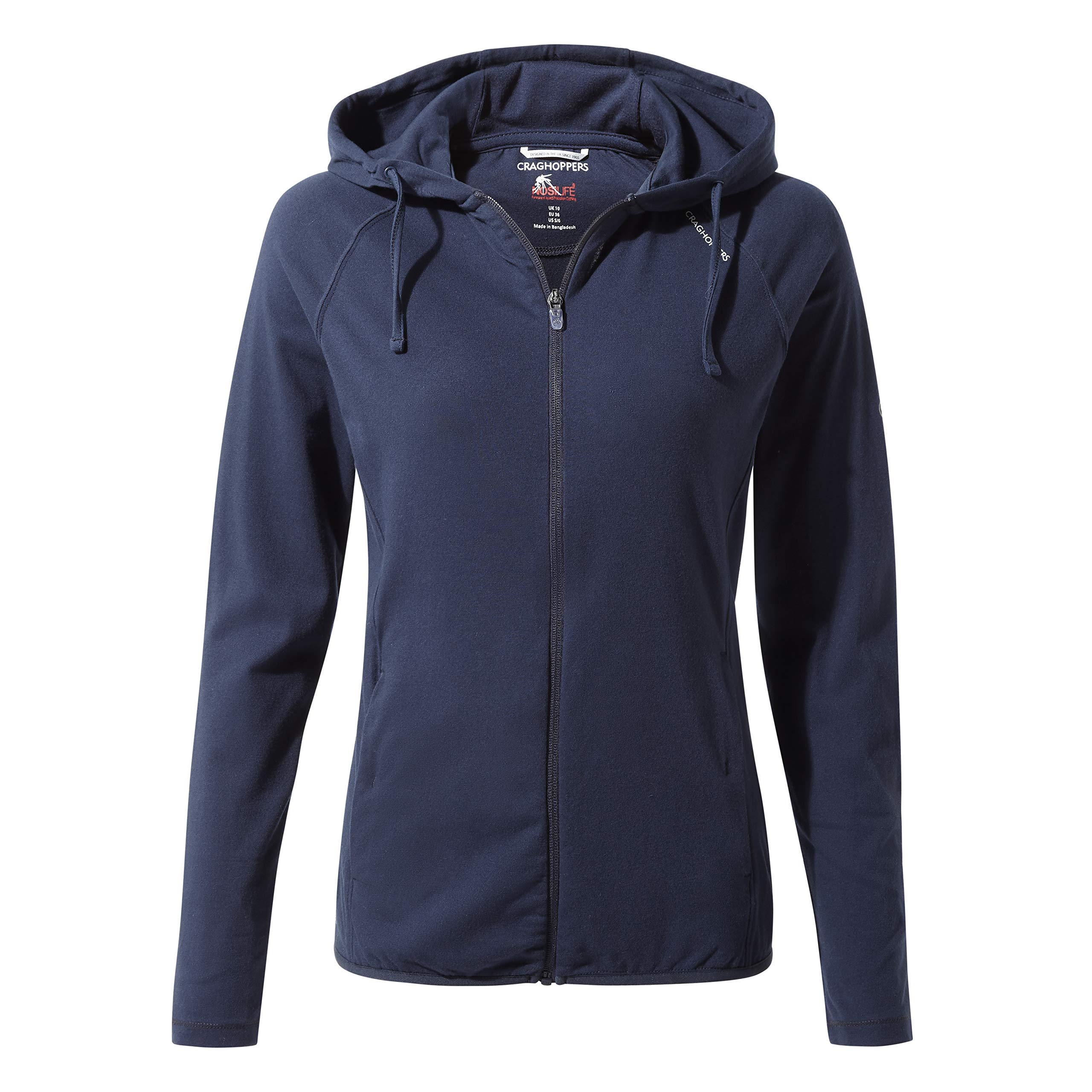 Craghoppers Sydney Hooded Top Insect Repellent Hot Climate UPF 30+ Lightweight Mid Layer Stretch
