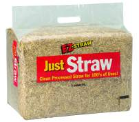 EZ-Straw Just Straw Clean Processed Straw – Multi Purpose - Small Bale (1 Cubic Foot)