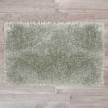 """Nestl Bedding Large Shaggy Rug with Non-Slip Rubber Backing – Machine Washable Super Soft Microfiber Rug – Plush Absorbent Bath Rug - 32""""x48"""", Silver"""