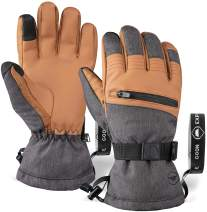 Ski & Snow Gloves - Cold Weather Waterproof Winter Snowboard Gloves For Men & Women - Ideal For Skiing & Snowboarding