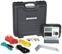 Megger DET4TD2 4-Terminal Ground Resistance Tester with Dry-Cell Battery, 0.01-20,000 Ohms Resistance Range