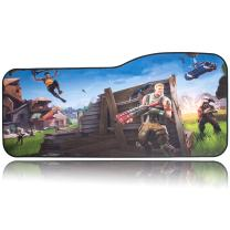 """BRILA Extended Mouse pad - Curve Design Gaming Mouse pad - Stitched Edges & Skid Proof Rubber Base - 29"""" x 13.8"""" x 0.12"""" X-Large Mouse Keyboard Desk Mat for Computer Laptop (Battle Royal Game)"""