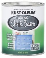 Rust-Oleum 284469-2PK Chalkboard Paint, 30 oz, Clear