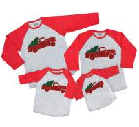 7 ate 9 Apparel Matching Family Christmas Shirts - Vintage Truck Red Shirt