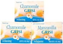 EMOLLIENT COSMETIC CLEAN BATH SOAP WITH 3 PACK GRISI SOAP CHAMOMILE MANZANILLA