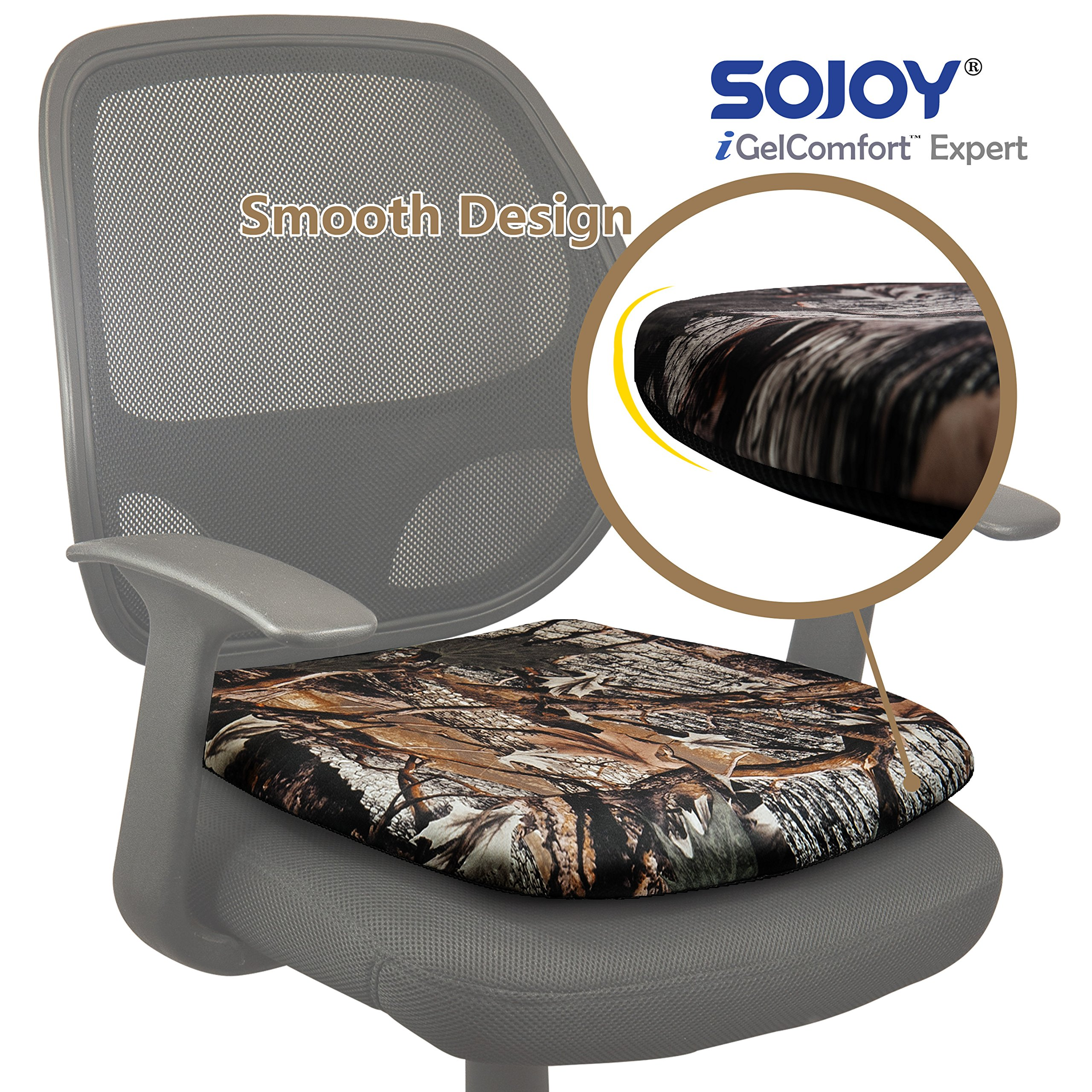 Sojoy iGelComfort Breathable Orthopedic Coccyx Gel Seat Cushion (Camouflage)