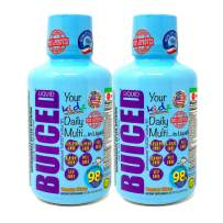 BUICED Liquid Kids Daily Multivitamin   2-Pack   Gluten Free   GMO Free   Allergen Free   Soy Free   BPA Free   Iron Free   Vegan Friendly Multivitamin   100% Daily Value   Made in USA