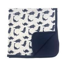 Finn + Emma Organic Cotton Reversible Baby Blanket - Dinosaurs