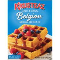 Krusteaz Light & Crispy Belgian Waffle Mix - No Artificial Flavors, Colors, or Preservatives - 28 OZ (Pack of 4)