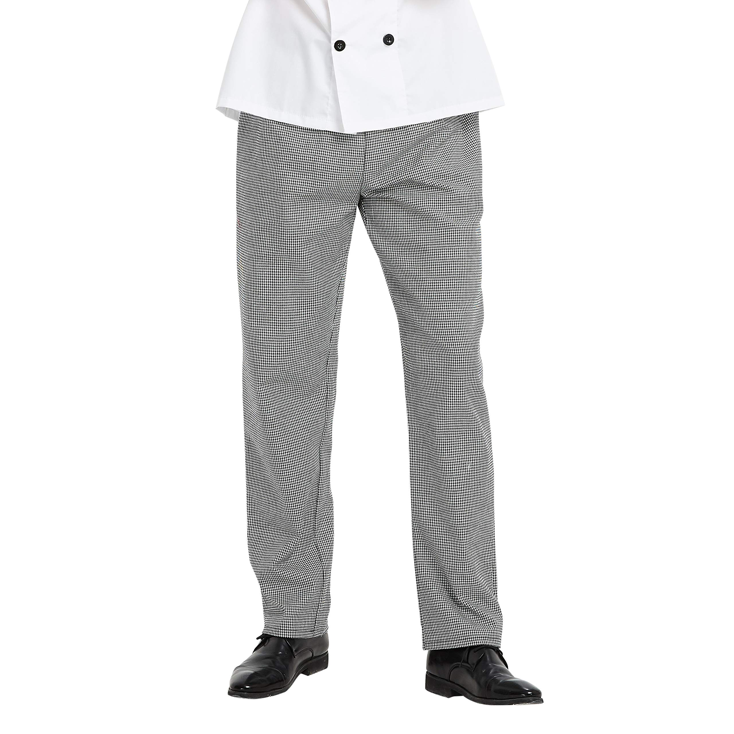 TOPTIE Men's Black Cargo Style Kitchen Work Chef Pant