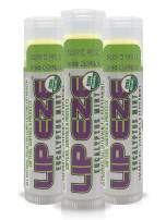 Lip Eze Refreshing Lip Balm, Soothe, Protect, Hydrate, 100% All Natural Organic Ingredients, USDA approved, Endorsed by Musicians, Not Waxy or Greasy (3 Pack Mint)