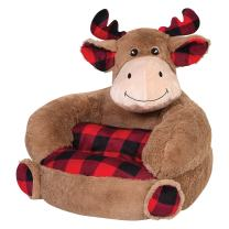 Trend Lab Kids Plush Character Chair, Buffalo Check Moose
