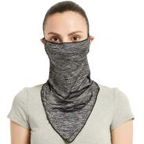 HOUPPE Summer Face Cover Scarf Anti-UV Ear Loops Face Bandana Neck Gaiter for Cycling Hiking