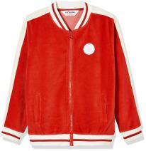 Kid Nation Kid's Velour Varsity Zip Front Jacket for Boys or Girls