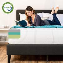 Best Choice Products 12in Queen Size 3-Layer Medium-Plush Bamboo Charcoal Gel & Green Tea Infused Memory Foam Mattress