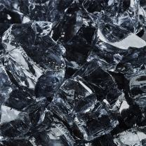 Storm Gray - Fire Glass for Indoor and Outdoor Fire Pits or Fireplaces | 10 Pounds | 1/2 Inch, Reflective