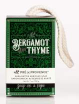 Pre De Provence Men's Fragrance Soap on a Rope Enriched with Natural & Repairing Shea Butter - Bergamot & Thyme (200g)