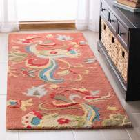 "Safavieh Blossom Collection BLM680B Handmade Rust and Multi Premium Wool Runner (2'3"" x 8')"
