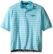 U.S. Polo Assn. Men's Big and Tall Embellished Pencil Stripe Polo Shirt
