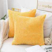 Home Brilliant Set of 2 Spring Decor Pillows Sofa Cushion Covers Accent Pillows for Couch, 16 x 16 inches, 40x40, Sunflower Yellow