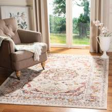 """Safavieh Carlyle Collection CYL229A Vintage Oriental Distressed Non-Shedding Stain Resistant Living Room Bedroom Accent Rug, 2'3"""" x 4', Ivory / Gold"""