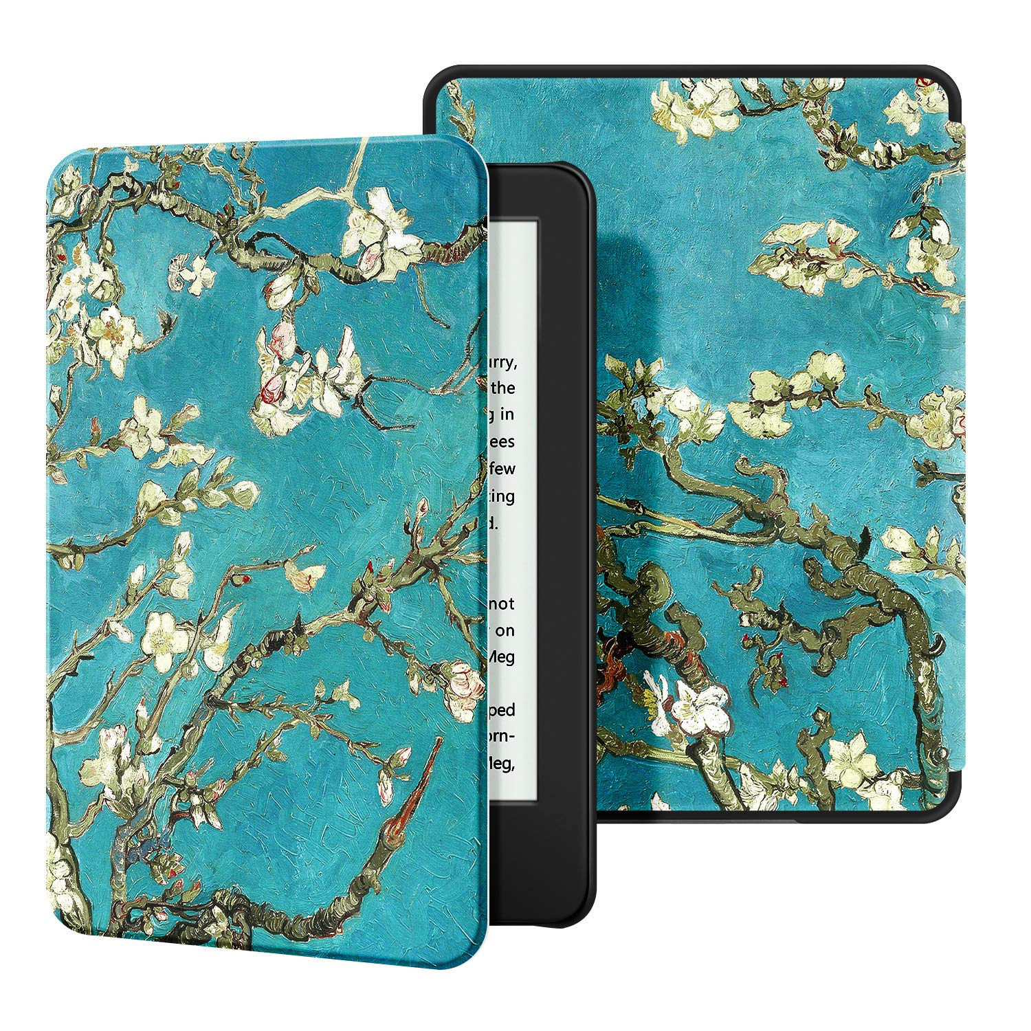 Ayotu Slim Case for All-New Kindle(10th Gen, 2019 Release) - PU Leather Cover with Auto Wake/Sleep-Fits Amazon All-New Kindle 2019(Will not fit Kindle Paperwhite or Kindle Oasis),The Apricot Flower