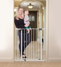 Dreambaby Liberty Extra Tall 29.5-36.5in Auto Close Metal Baby Gate - White