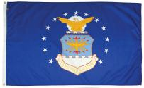 FlagSource U.S. Air Force Nylon Military Flag, Made in The USA, 3x5'