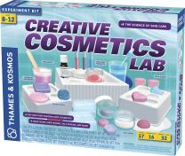 Thames & Kosmos Creative Cosmetics Lab Science Kit   16 Experiments Including Soaps, Bath Bombs, Salt Scrubs   Toy of The Year Finalist   Parents' Choice Silver Award Winner