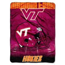 """Officially Licensed NCAA """"Overtime"""" Micro Raschel Throw Blanket, 60"""" x 80"""", Multi Color"""