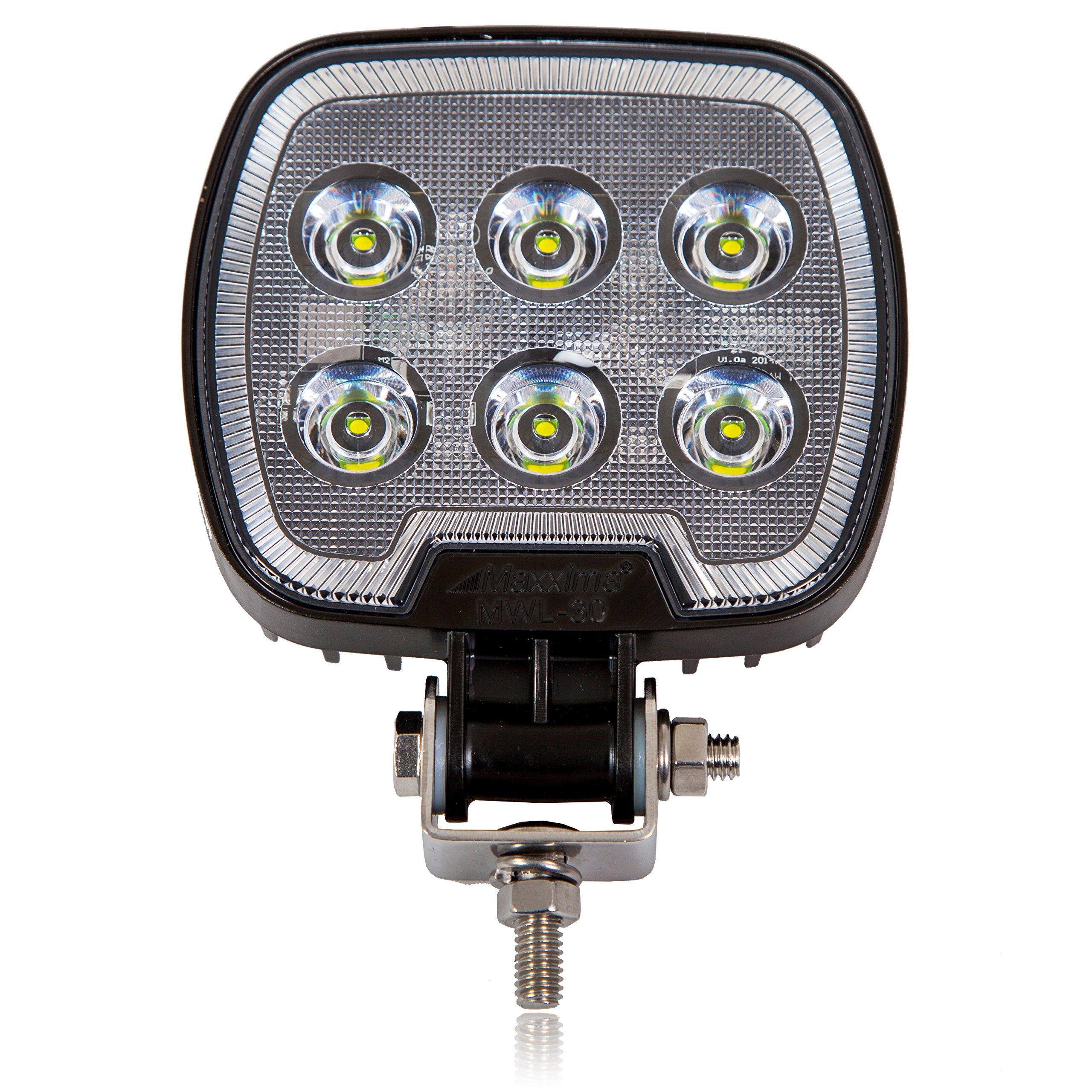Maxxima MWL-30 6 LED Square Work Light 1,200 Lumens