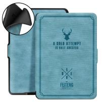 Ayotu Silicone Soft Case for Kindle(8th Generation,2016 Release) E-Reader with Auto Wake/Sleep,Shock Proof Cover for Amazon Kindle (6 Display, 8th Gen 2016 Release),Retro Series K8-9 Lake Blue