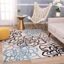 Rugshop Contemporary Modern Floral Flowers Area Rug 10' X 14' Cream