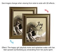 VERSERIES - Joy Picture Frame - Christian Gift and Art - Animated Photo Frame - Bible Verse Gift - Choose Your Design (Rustic Gold Frame Design, Set of 1)
