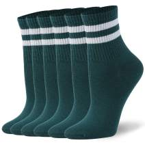 WXXM Unisex Cotton Casual Crew Socks 3/6 Pairs